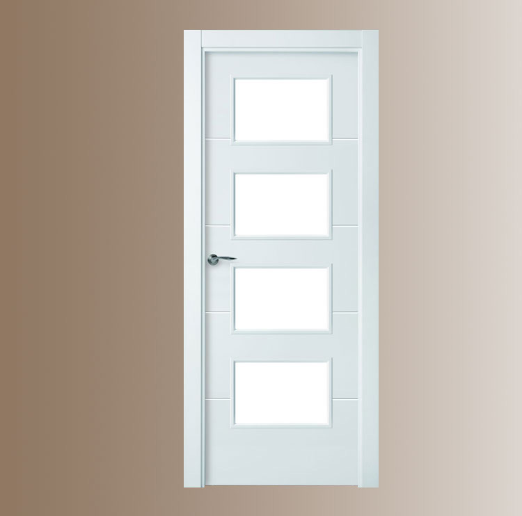 Puertas lacadas for Cristales para puertas de interior precios
